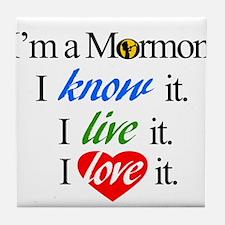 I'm a Mormon Tile Coaster