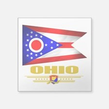 "Ohio (Flag 10).png Square Sticker 3"" x 3"""