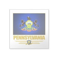 "Pennsylvania (Flag 10).png Square Sticker 3"" x 3"""