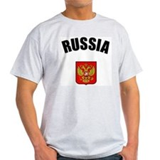 Russian Coat of Arms Ash Grey T-Shirt