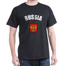 Russian Coat of Arms Black T-Shirt