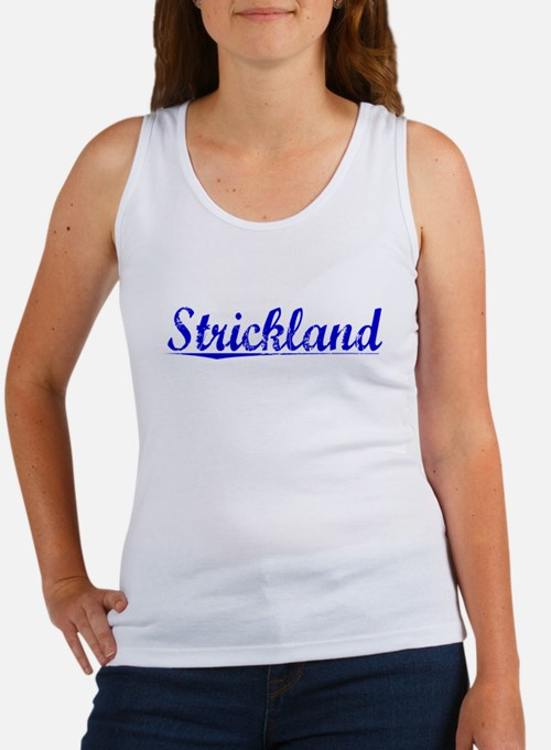 Strickland, Blue, Aged Women's Tank Top