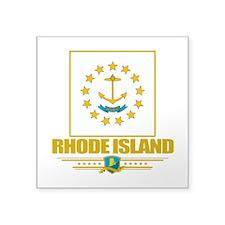 "Rhode Island (Flag 10).png Square Sticker 3"" x 3"""