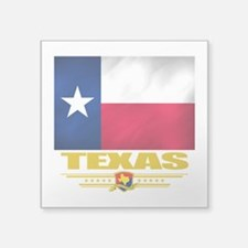 "Texas (Flag 10).png Square Sticker 3"" x 3"""