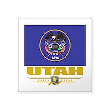 "Utah (Flag 10).png Square Sticker 3"" x 3"""