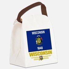 Wisconsin (Flag 10).png Canvas Lunch Bag