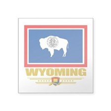 """Wyoming (Flag 10).png Square Sticker 3"""" x 3"""""""
