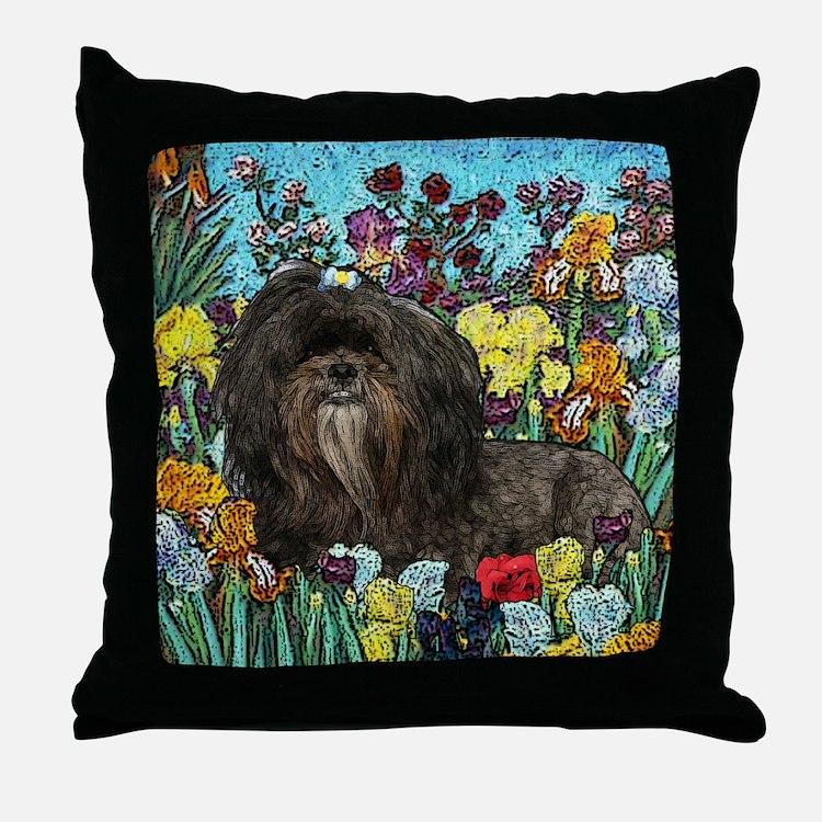 Shih Tzu Fine Art Hershey Bear Throw Pillow