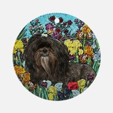 Shih Tzu Fine Art Hershey Bear Ornament (Round)