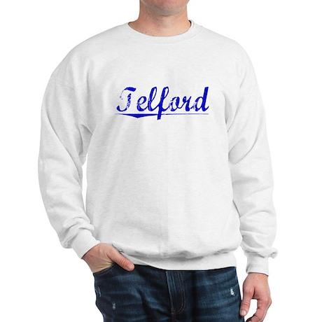Telford, Blue, Aged Sweatshirt