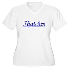 Thatcher, Blue, Aged T-Shirt