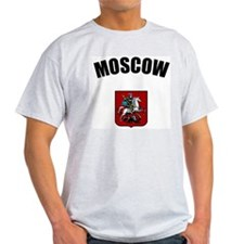 Moscow Coat of Arms Ash Grey T-Shirt