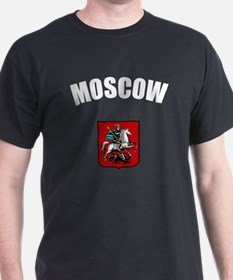 Moscow Coat of Arms Black T-Shirt