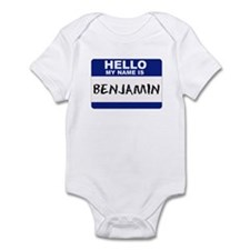 Hello My Name Is Benjamin - Infant Creeper