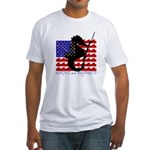 'Horses and Bayonets' Fitted T-Shirt