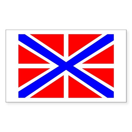 Russian Navy Jack Rectangle Sticker