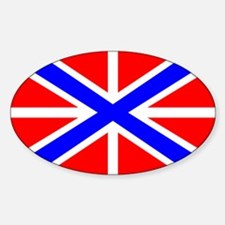 Russian Navy Jack Oval Decal