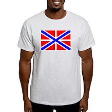 Russian Navy Jack Ash Grey T-Shirt