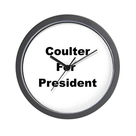 Coulter for President Wall Clock