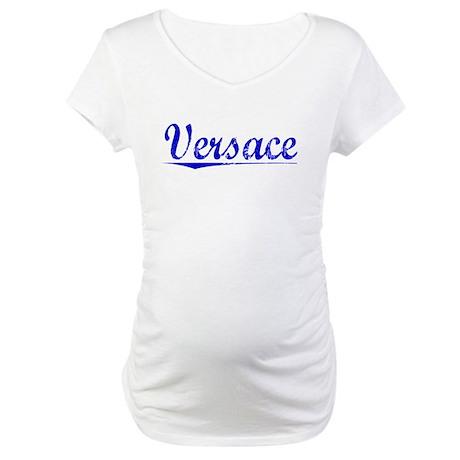 Versace, Blue, Aged Maternity T-Shirt
