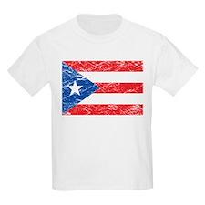 Vintage Puerto Rico Flag Kids T-Shirt