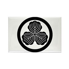 three oak leaves in circle Rectangle Magnet