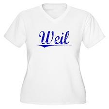 Weil, Blue, Aged T-Shirt