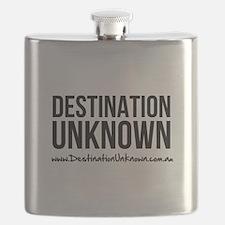 Destination Unknown Logo Black Flask