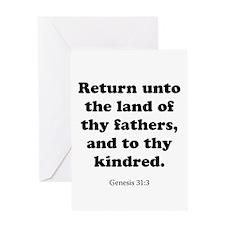 Genesis 31:3 Greeting Card