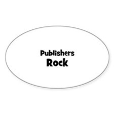 PUBLISHERS Rock Oval Decal