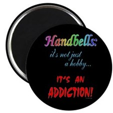 "Handbell Addiction Black 2.25"" Magnet (10 pack)"