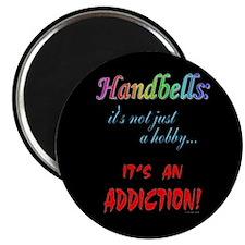 "Handbell Addiction Black 2.25"" Magnet (100 pack)"