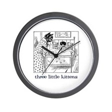 Three Little Kittens Wall Clock