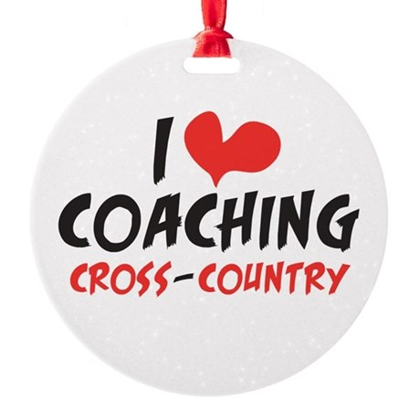I heart Coaching C-C Round Ornament