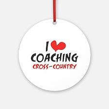 I heart Coaching C-C Ornament (Round)