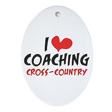 I heart Coaching C-C Ornament (Oval)