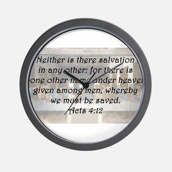 Acts 4:12 Wall Clock