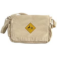 School & Deer Crossing Messenger Bag