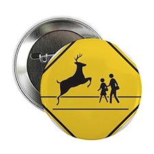 """School & Deer Crossing 2.25"""" Button"""