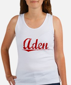 Aden, Vintage Red Women's Tank Top