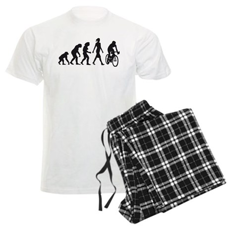 evolution female bicycle racer Men's Light Pajamas