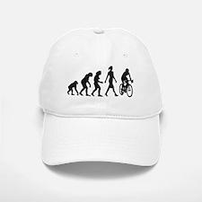 evolution female bicycle racer Baseball Baseball Cap