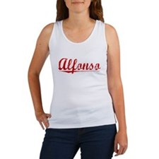 Alfonso, Vintage Red Women's Tank Top