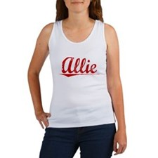 Allie, Vintage Red Women's Tank Top