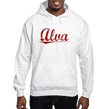 Alva, Vintage Red Hoodie