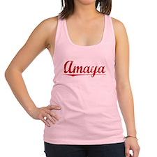 Amaya, Vintage Red Racerback Tank Top