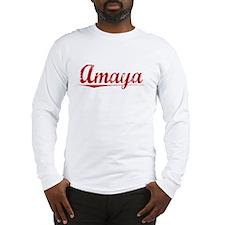 Amaya, Vintage Red Long Sleeve T-Shirt
