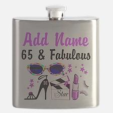 HAPPY 65TH BIRTHDAY Flask