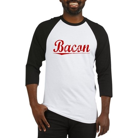 Bacon, Vintage Red Baseball Jersey