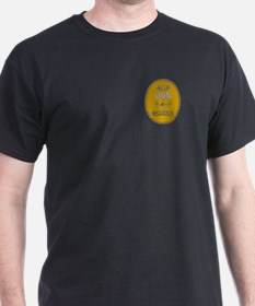 Command Master Chief<BR> Black T-Shirt 3